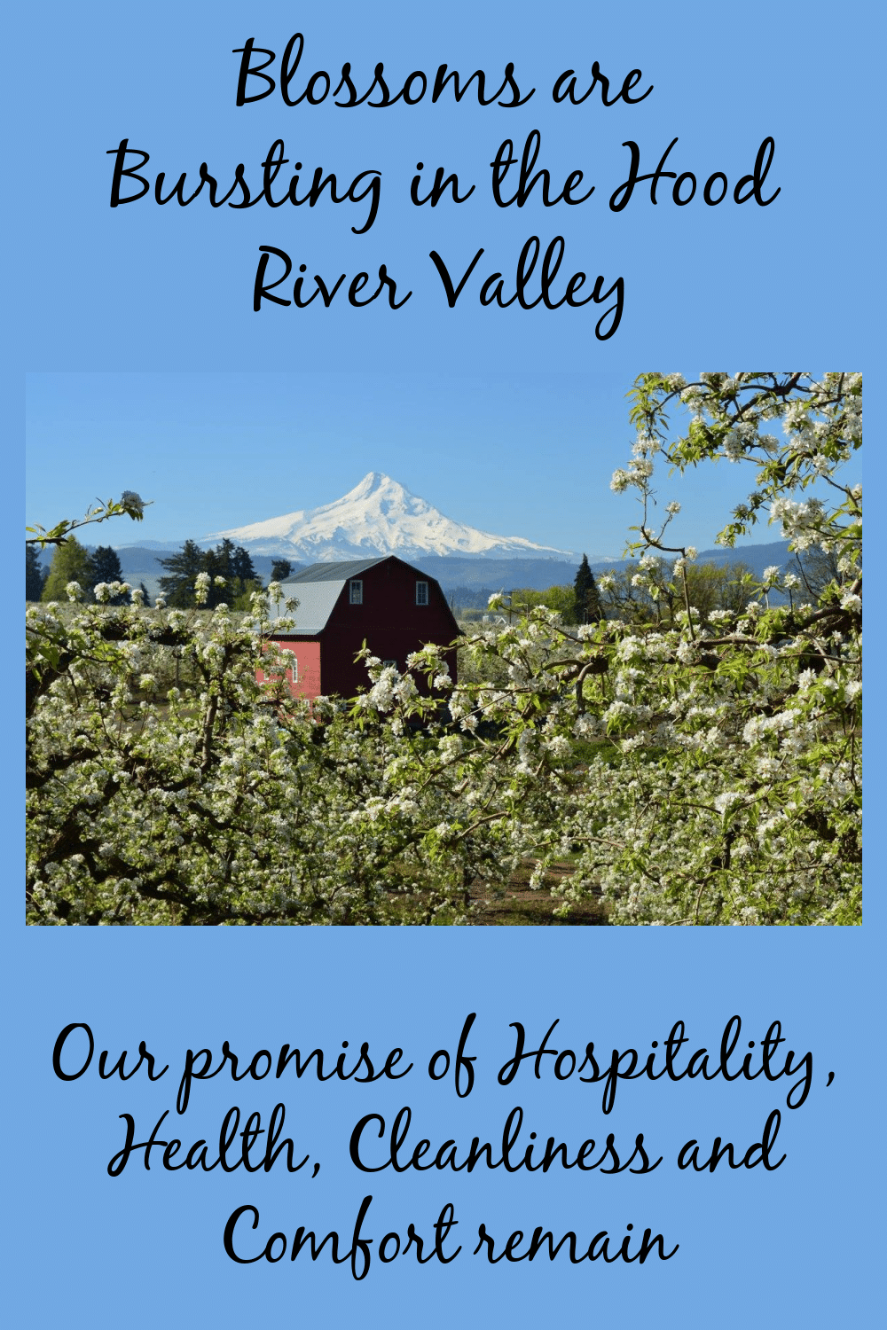 Spring Brings an Explosion of Blossoms and Color to the Hood River Valley, Old Parkdale Inn