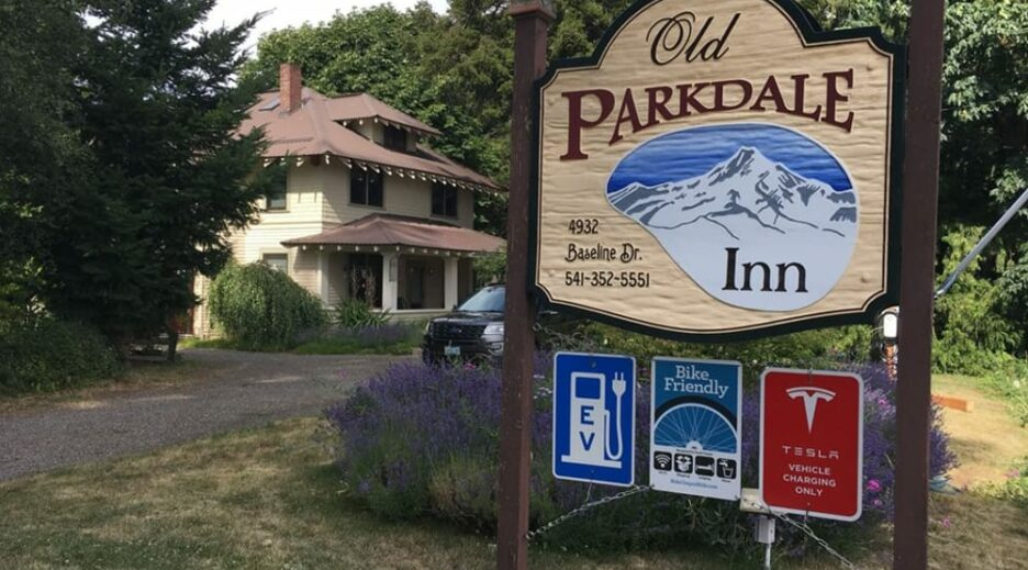 Electric Vehicle Charging Stations at the Old Parkdale Inn, Old Parkdale Inn